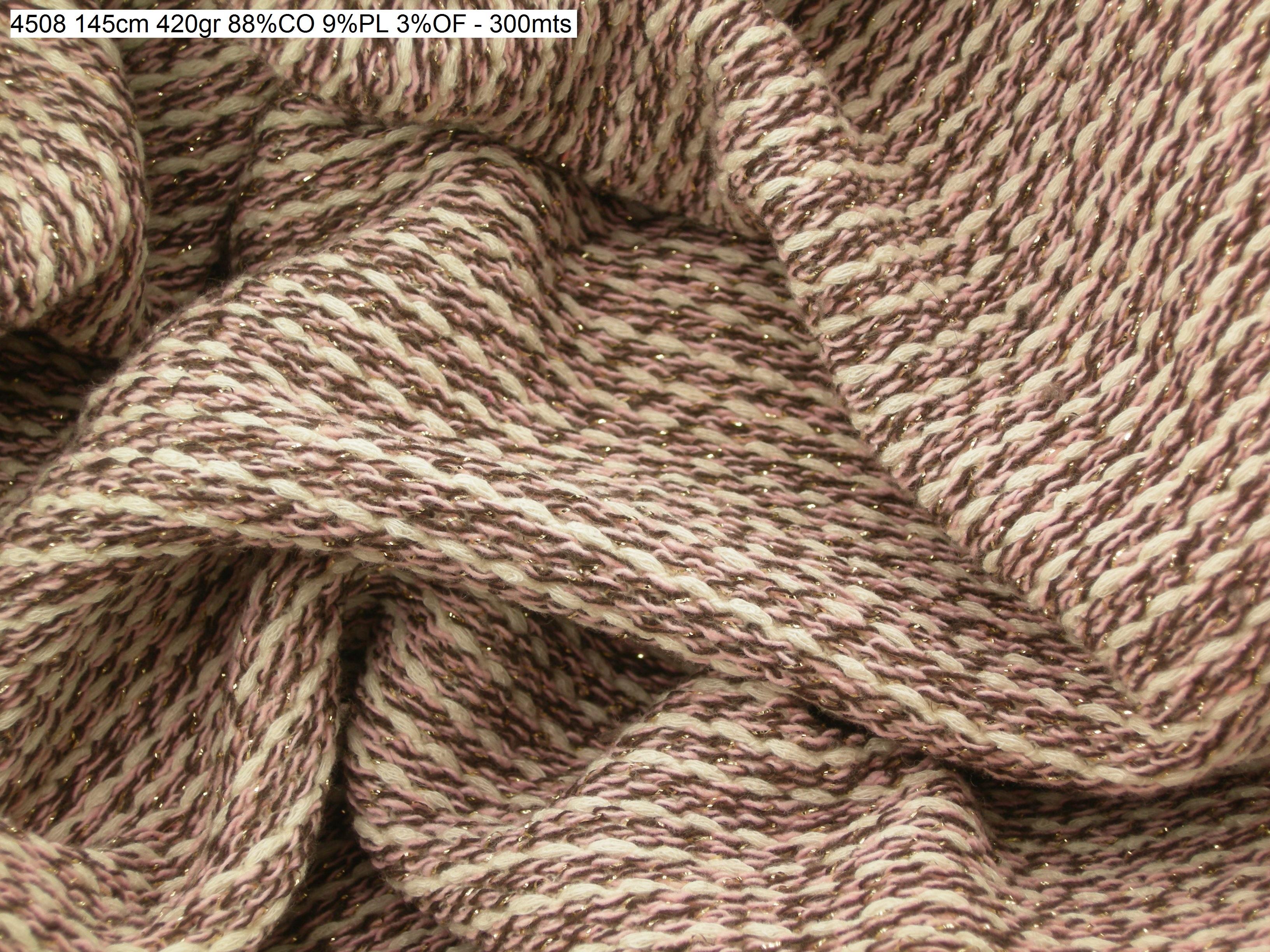 4508 Lurex chanel knit jacket coat fashion fabric