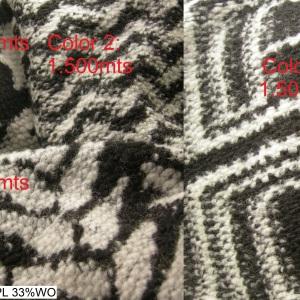 4512 lanacotta boiledwool pieddepoule atzec spike pattern fashion fabric