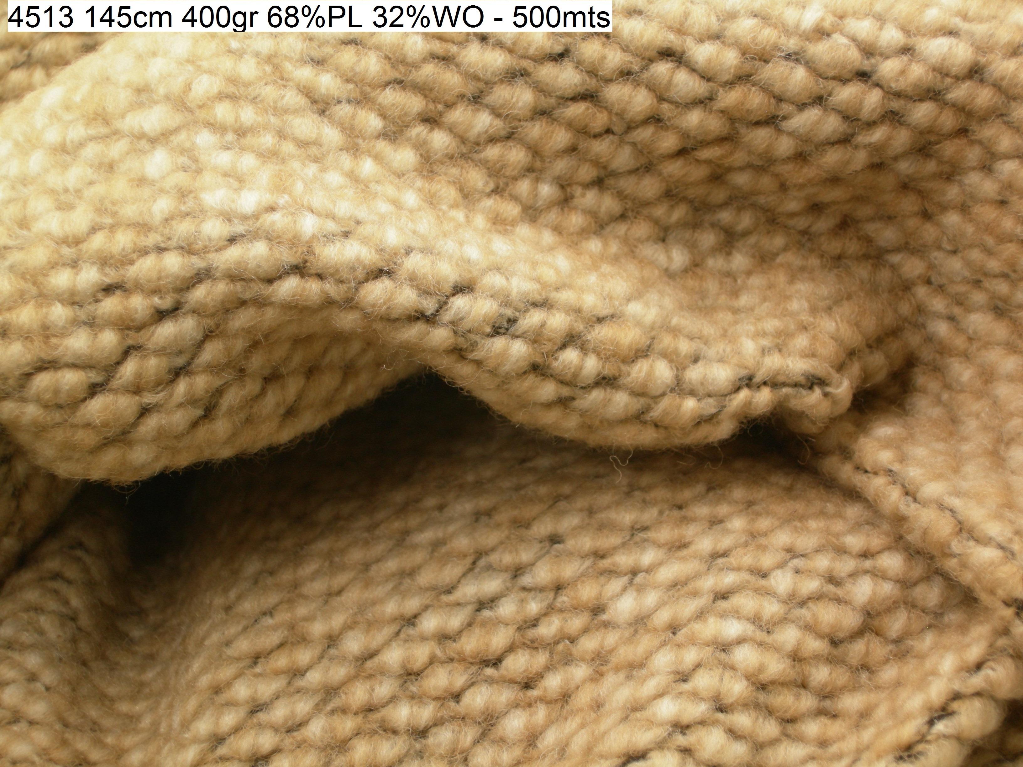 4513 boiledwool lanacotta coat fashion fabric