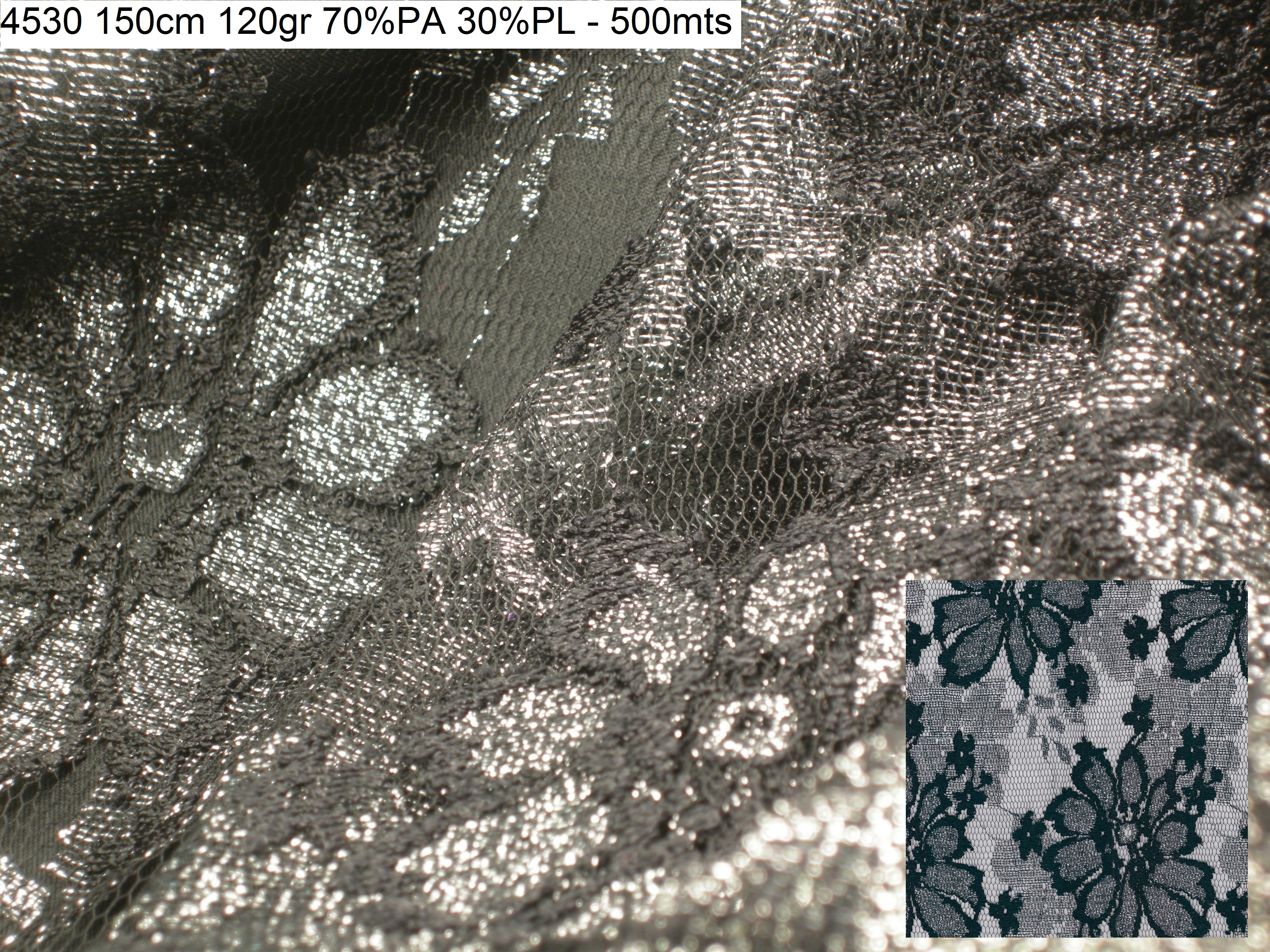 4530 embroidery lurex lace fashion fabric