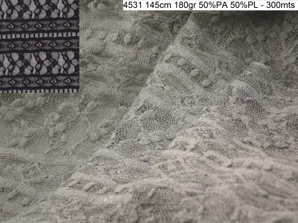 4531 embroidery lurex lace fashion fabric