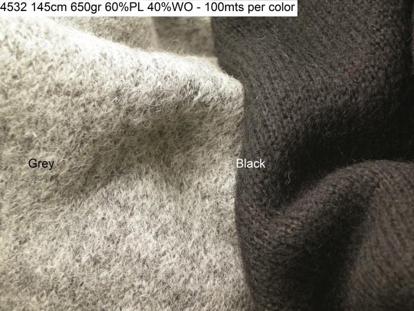 4532 knit lanacotta boiledwool coat fashion fabric
