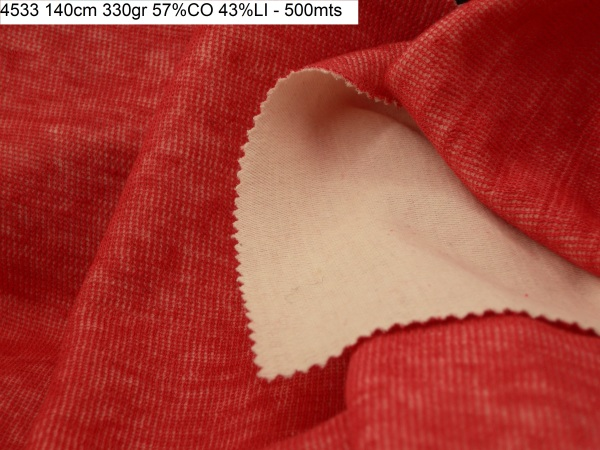 4533 knit linen doubleface jacket fashion fabric