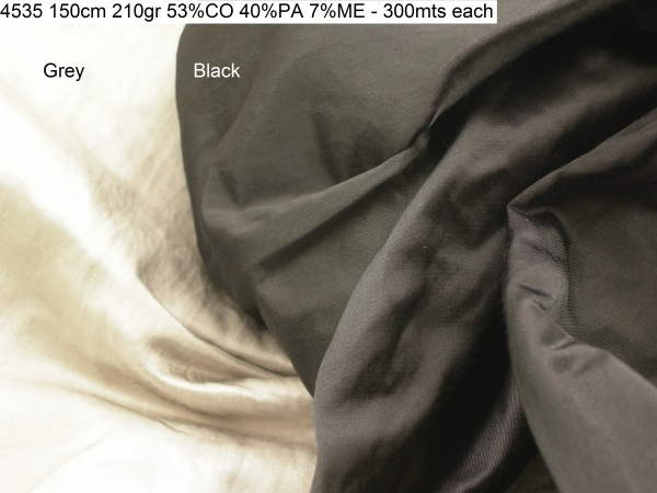 4535 iron steel fiber crinckle jacket pants fashion fabric
