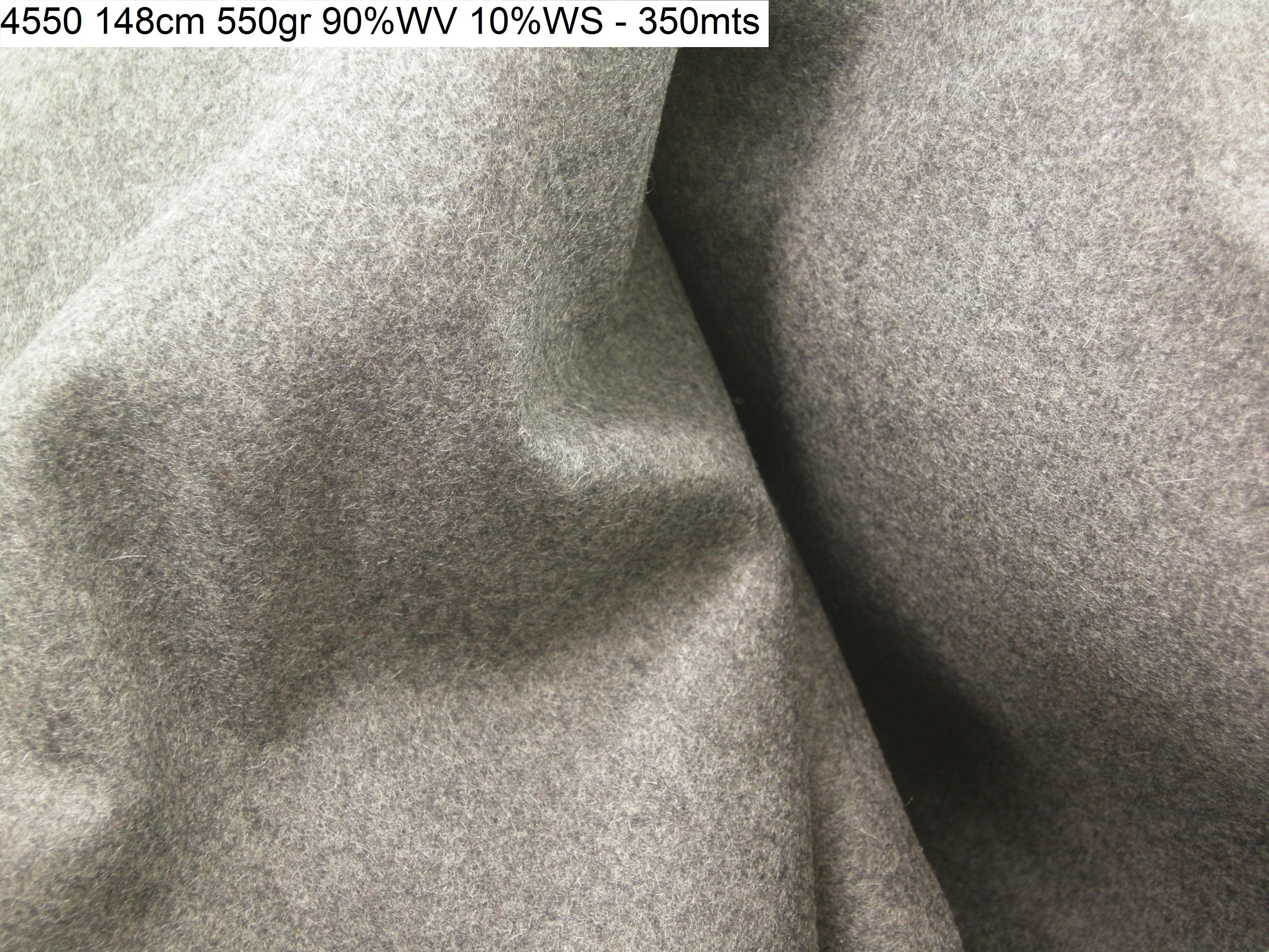 4550 cashmere blend melange grey coat fashion fabric