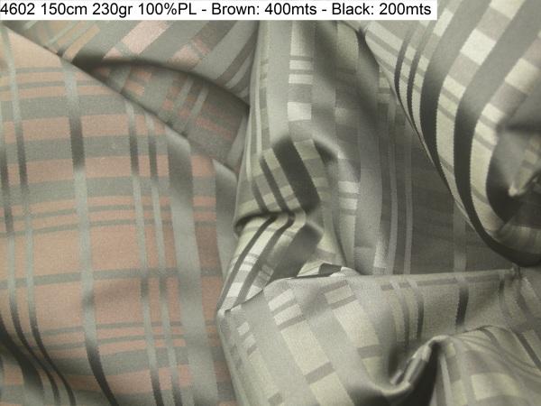 4602 tartan yarndyed taffeta jacket fashion fabric