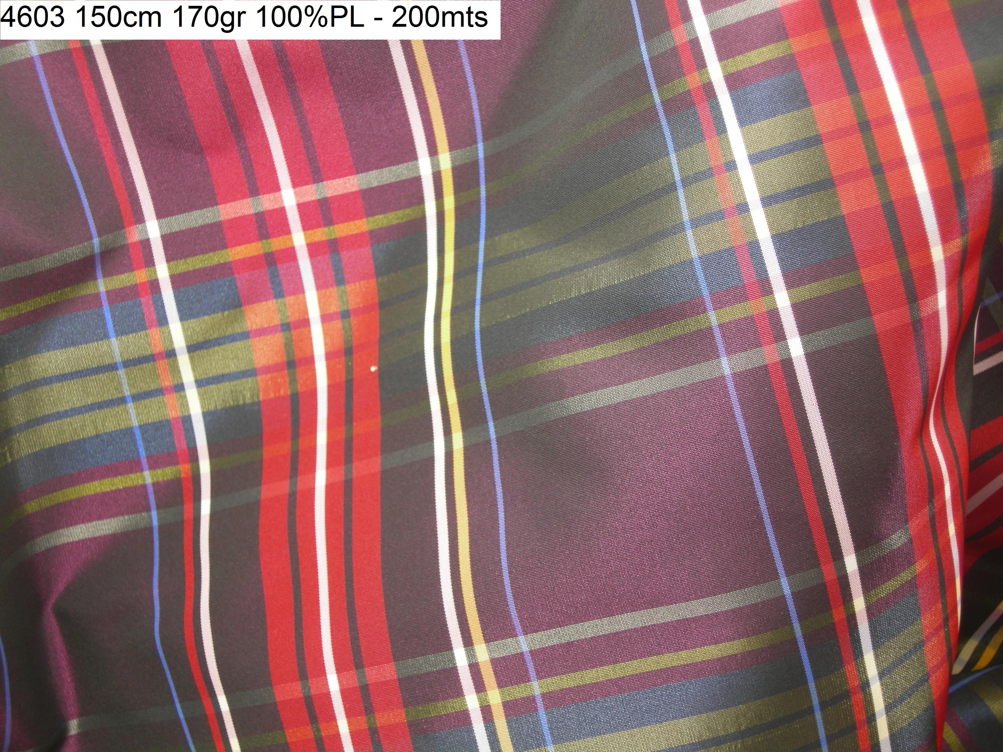 4603 tartan checks taffeta jacket blazer fashion fabric