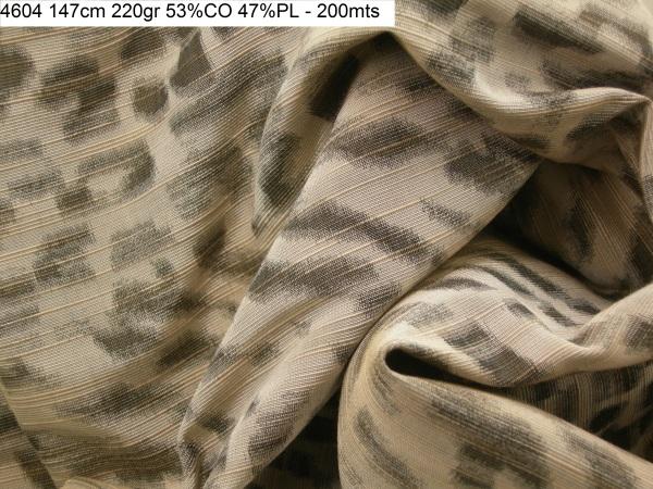 4604 leopard print shantung cotton blend jacket fashion fabric