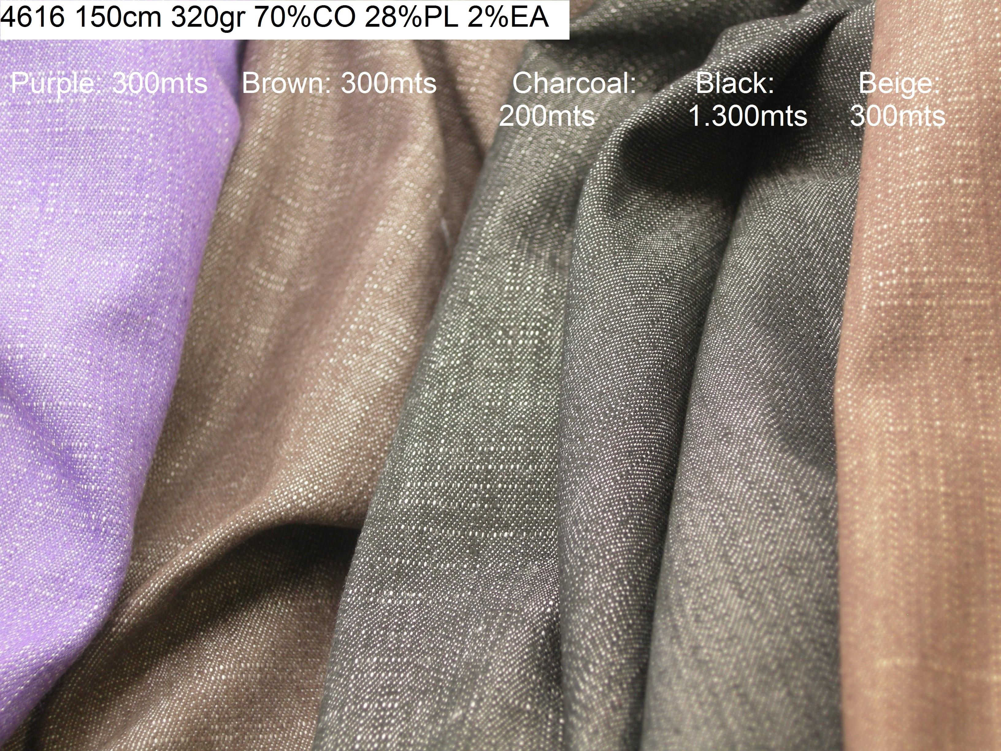 4616 stretch comfort jeans denim shantung pants jacket fabric