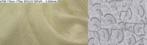4706 PFD transparent devore garment dyeing shirt dress fabric 170cm 175gr 50CO 50PL - 3000mts