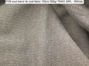 5109 wool blend rib coat fabric 150cm 500gr 70WO 30PL - 900mts