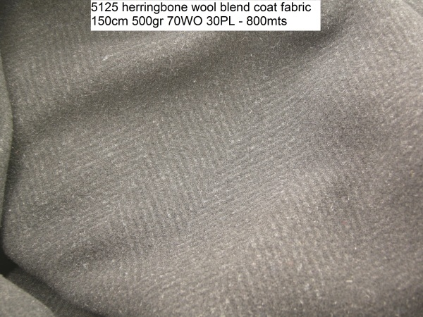 5125 herringbone wool blend coat fabric 150cm 500gr 70WO 30PL - 800mts