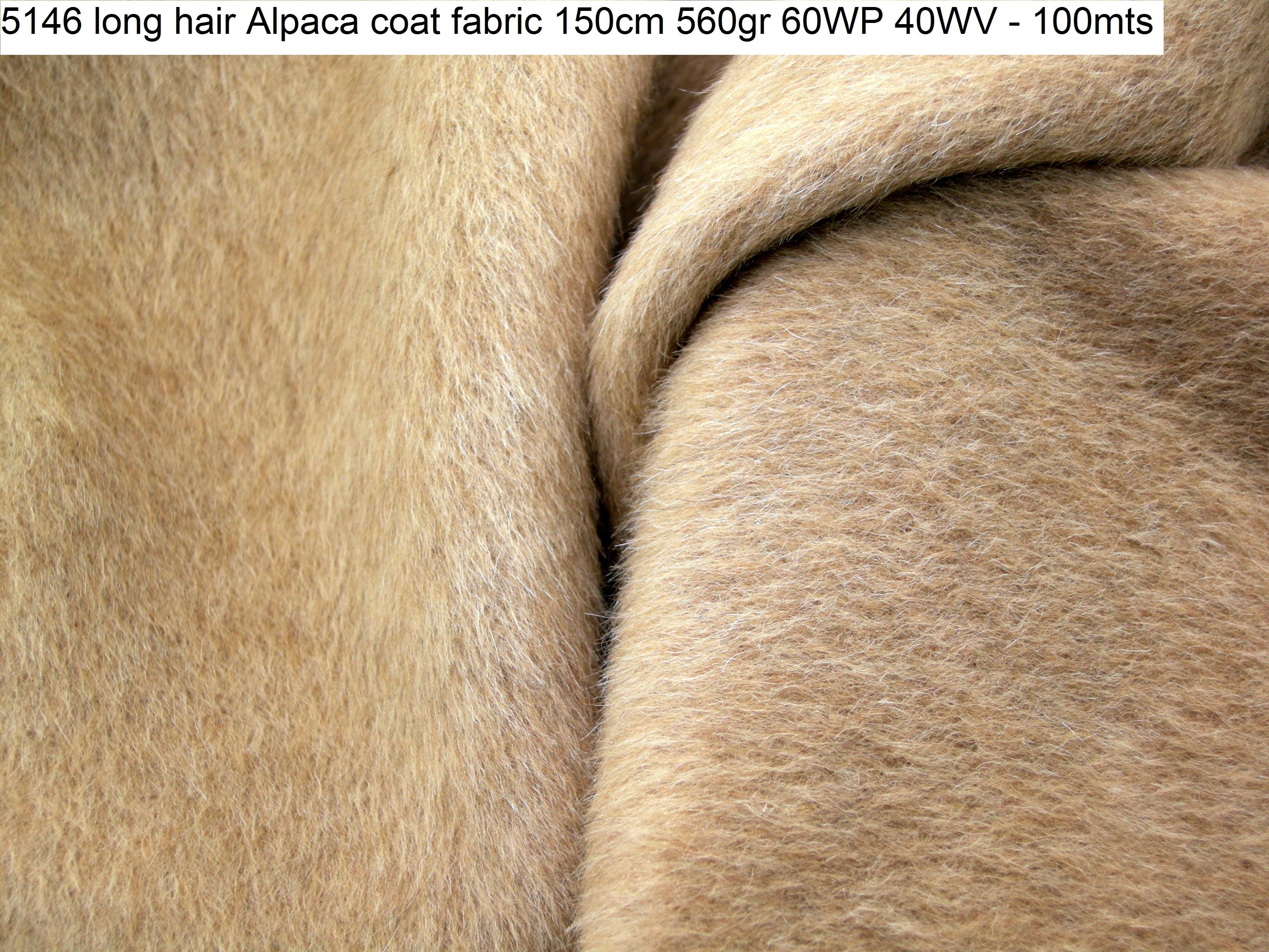 5146 long hair Alpaca coat fabric 150cm 560gr 60WP 40WV - 100mts