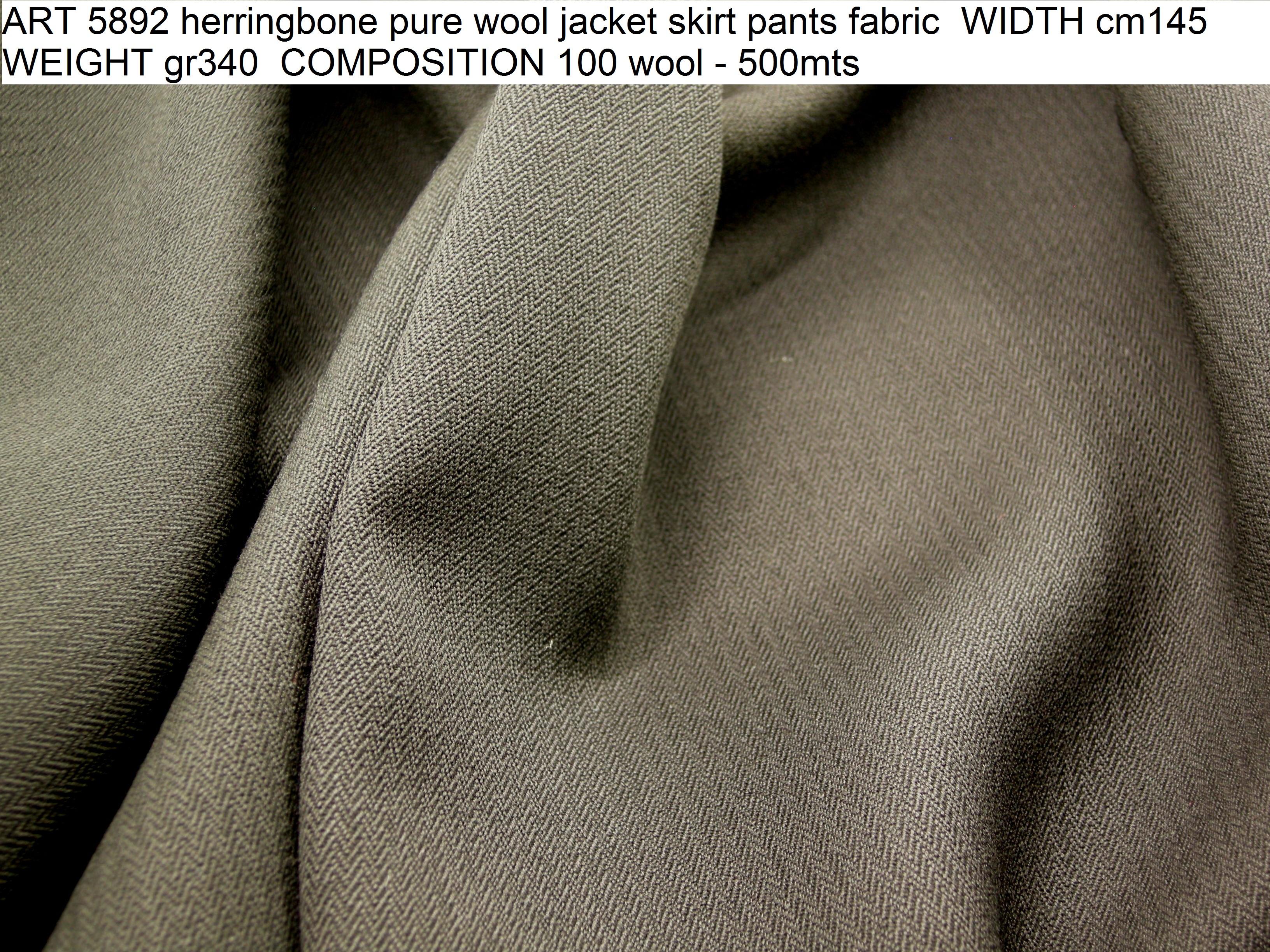 ART 5892 herringbone pure wool jacket skirt pants fabric WIDTH cm145 WEIGHT gr340 COMPOSITION 100 wool - 500mts
