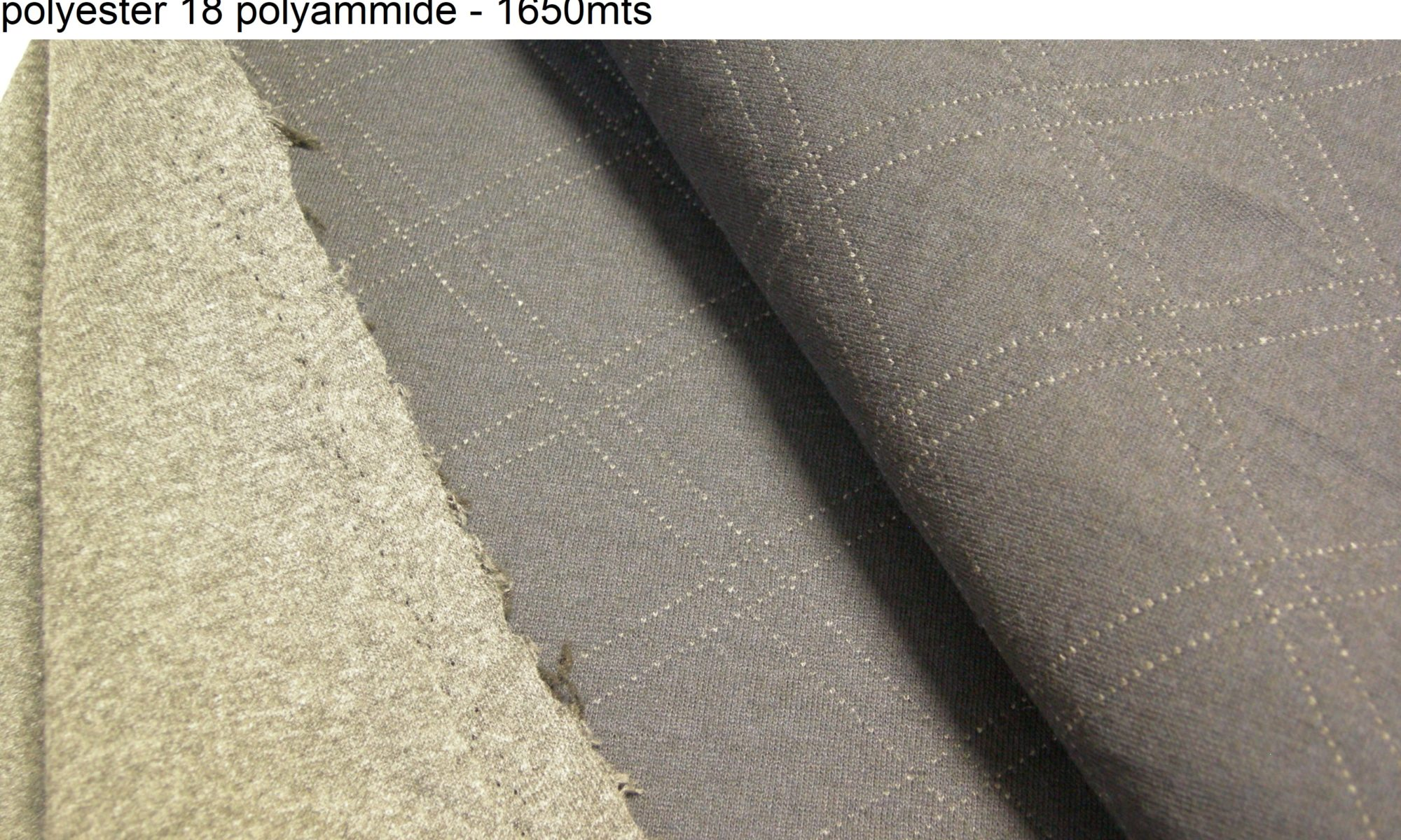 ART 7418 double faced knit jersey jacket coat fabric WIDTH cm130 WEIGHT gr510 - gr392 square meter - COMPOSITION 41 cotton 41 polyester 18 polyammide - 1650mts