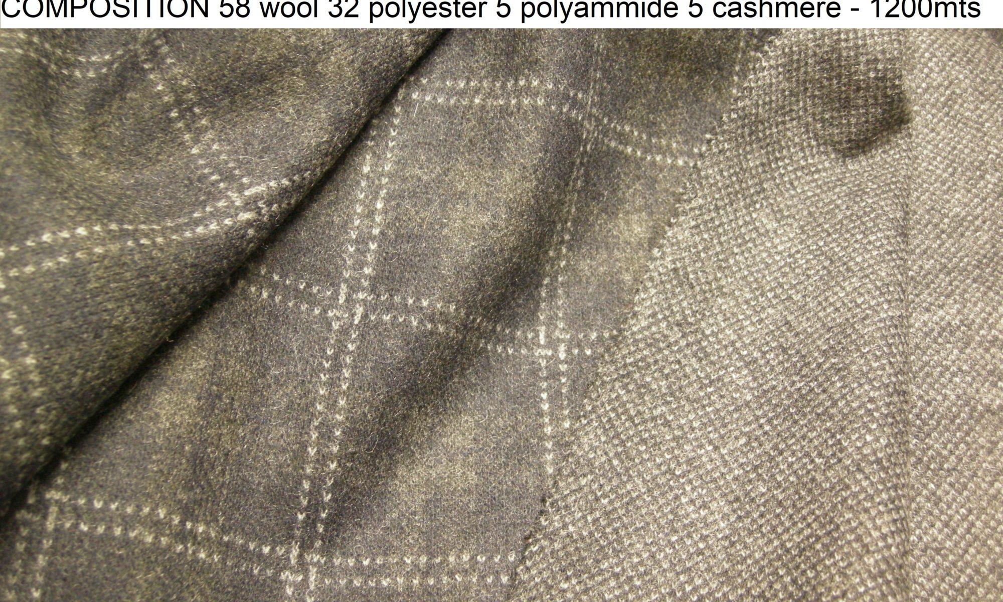 ART 7434 double face cashmere blend windowpane checkers jersey knit coat fabric WIDTH cm145 WEIGHT gr620 - gr427 square meter - COMPOSITION 58 wool 32 polyester 5 polyammide 5 cashmere - 1200mts