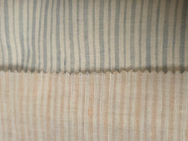 ART 7474 barre shirt linen blend fashion fabric WIDTH cm145 WEIGHT gr160 - gr110 square meter - COMPOSITION 55 linen 45 viscose - blue 300mts – pink 200mts