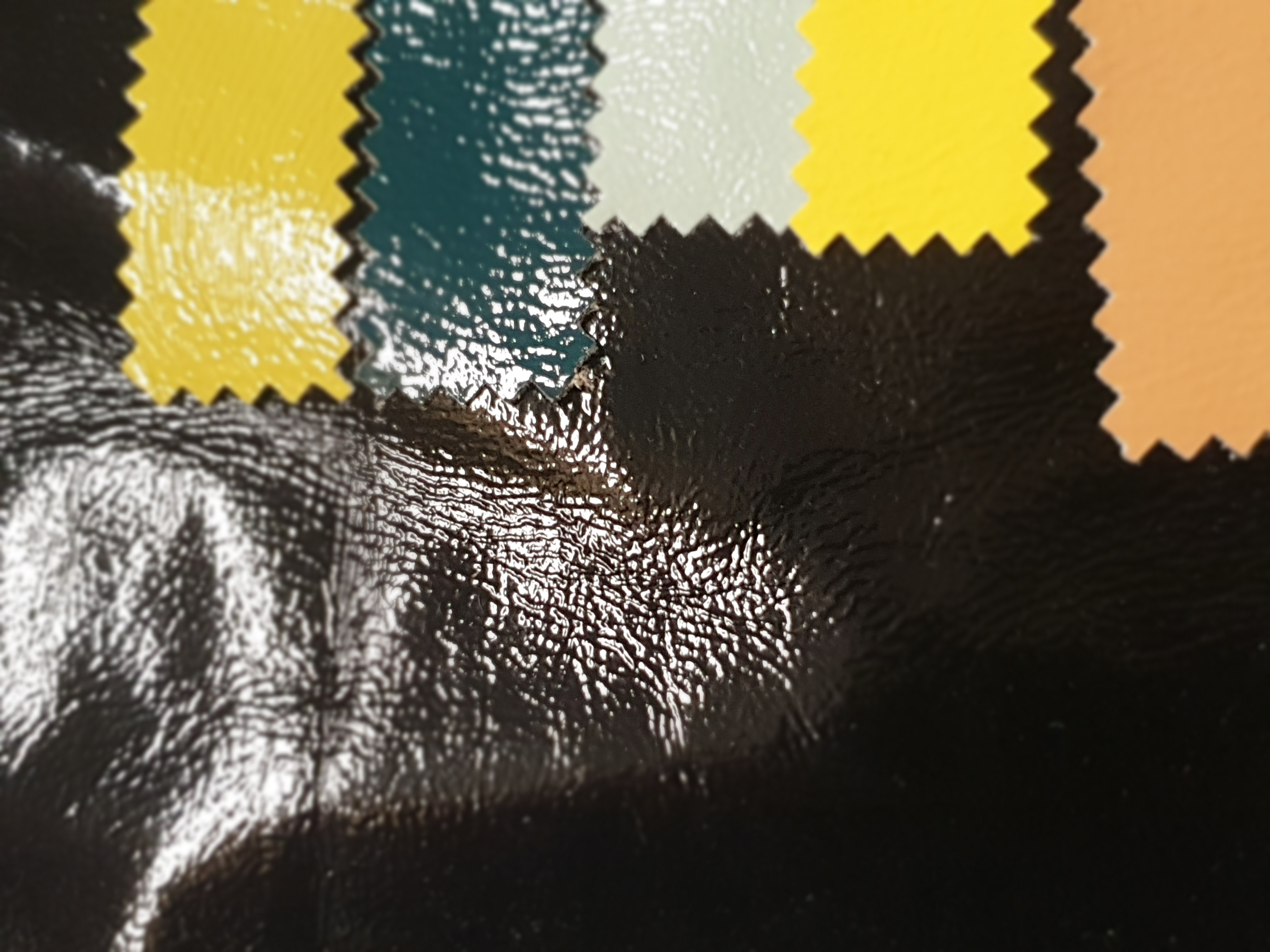 ART 7507 WIDTH cm133 WEIGHT gr470 - gr353 square meter - COMPOSITION 50 polyurethane 50 polyester - Black 100 – avocado 200 – green 200 - mint 100 – yellow 50mts – beige 350mts