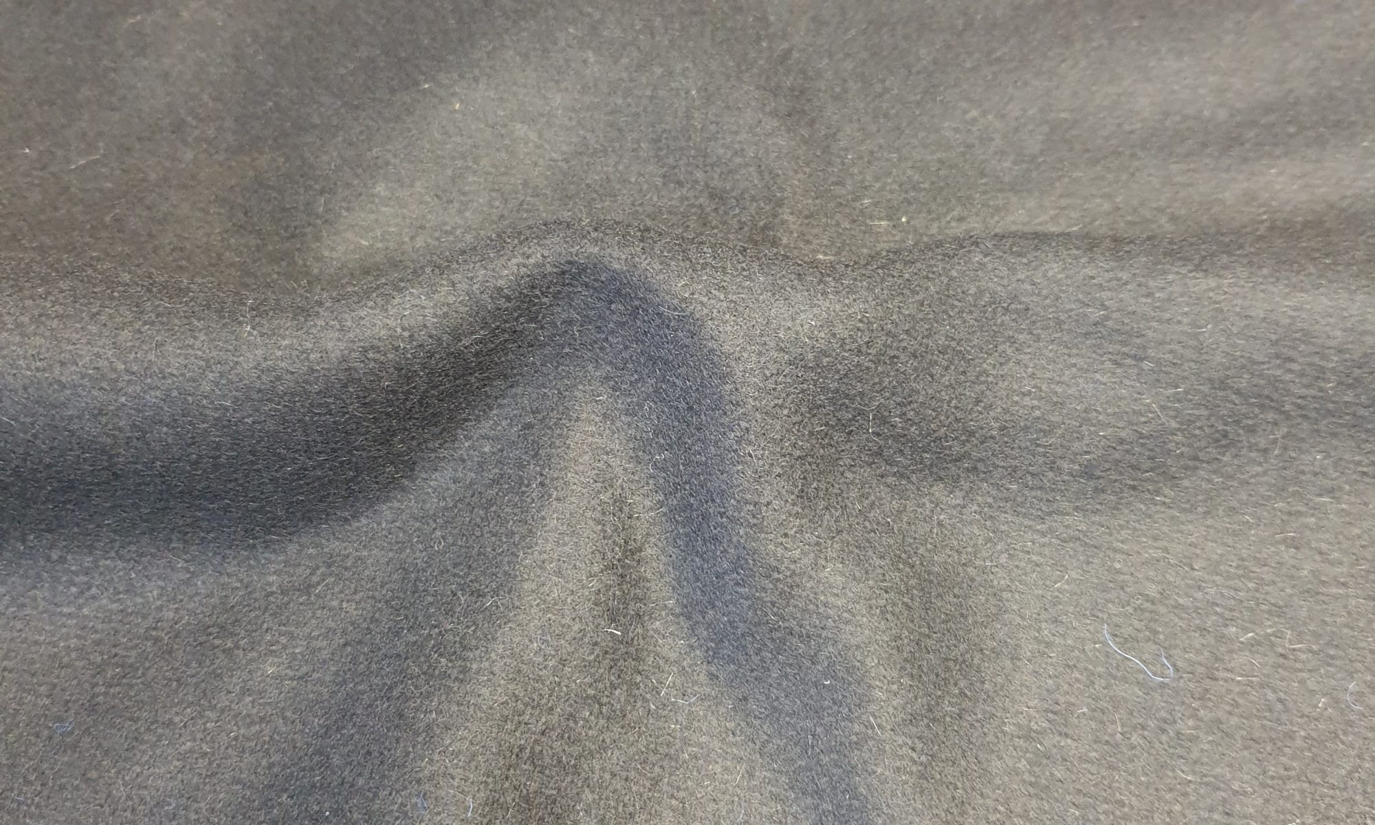 7532 wool melton coat fabric WIDTH cm150 WEIGHT gr500 - gr333 square meter - COMPOSITION 80 Wool 20 nylon polyammide - black 2500mts