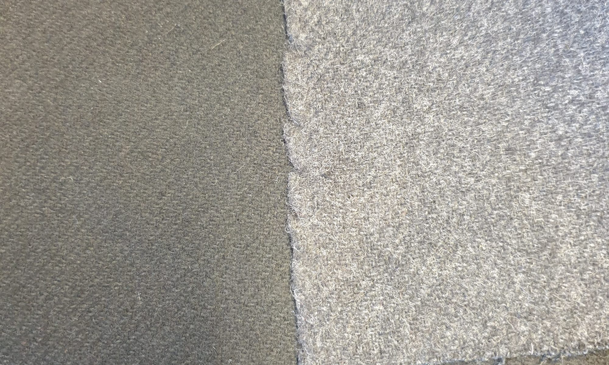 7543 pure virgin wool blend with silk for heavy melton coat fabric WIDTH cm140 WEIGHT gr600 - gr428 square meter - COMPOSITION 98 wool 2 silk - black 200mts – charcoal 100mts
