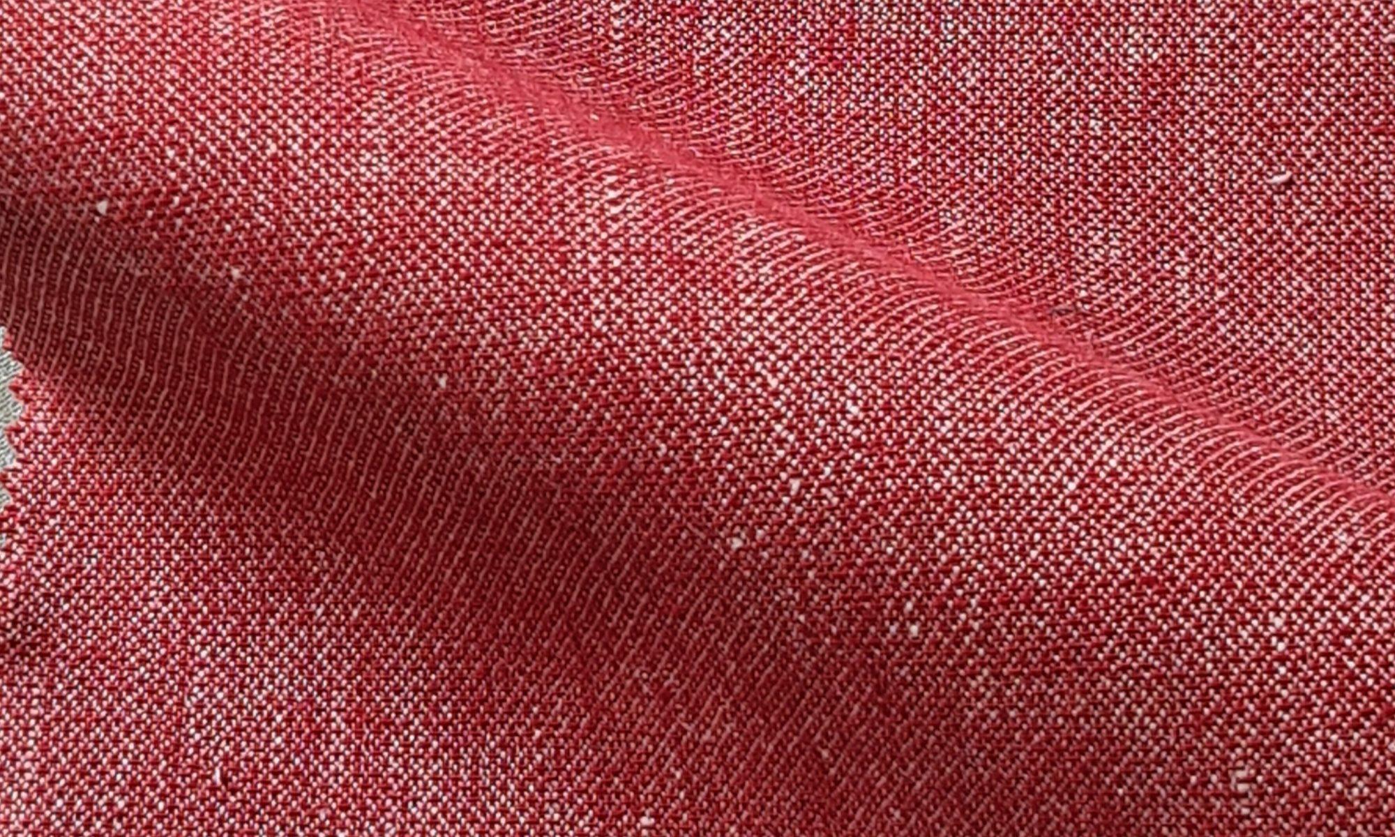 7599 linen blend red jacket skirt pant WIDTH cm145 WEIGHT gr270 - gr186 square meter - COMPOSITION 51 Cotton 49 Linen - 930mts